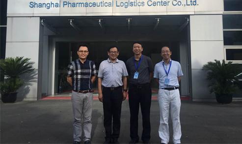 崔忠付考察上海医药物流中心有限公司